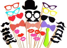 Photobooth props 35 Incredibly Creative Ways To Add Color To Your Wedding