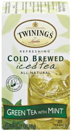 Twinings Green Mint Cold Brewed Tea Packages (Pack of is all natural and expertly blended green tea with a light, refreshing taste of peppermint. Each tea leaf is infused with herbal tones and fragrant bouquets for great-tasting iced tea. Twinings Tea, Mint Tea, Brewing Tea, Tea Blends, How To Make Tea, Herbal Tea, Cold Brew, Iced Tea, Package Design