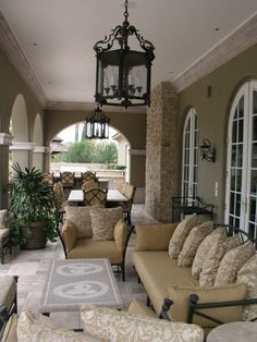 A beautiful Patio off the walk out basement.  Could do a screened in porch or put wooden shutters for a more protected space.