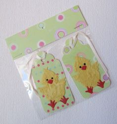 Easter Chick Gift Tags £1.00