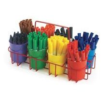 Convenient for storing and distributing markers, crayons, pencils or collage items! Perfect for transporting art supplies on the go! Caddy measures x x Cups not included Arts And Crafts Storage, Arts And Crafts Furniture, Craft Storage, Teacher Supplies, School Supplies, Art Supplies, Planner Supplies, Crayon Organization, Classroom Organization