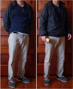 My Favorite Outfits - Travel Casual (REI jacket, American Eagle shirt, thin black belt, Banana Republic Emerson Chinos, navy blue Sperry Topsiders) Casual Travel Outfit, Sperry Topsiders, American Eagle Shirts, Man Fashion, Smart Casual, Black Belt, Emerson, Fashion Advice, Nice Dresses