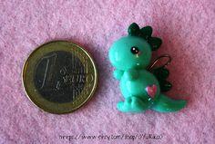 Cute dinosaur polymer clay charm