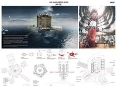 [AC-CA] - Architectural Competition - Concours d'Architecture | [PACIFIC] Ocean Platform Prison / new ocean platform prison - Team members: Chloé Meurillon, Guillaume Ros and Stella Buisan (France)
