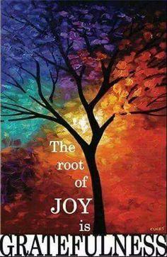 Joy is gratefulness.