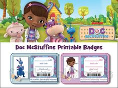 Doctors Badge McStuffins Inspired Birthday Party or Hospital Pretend for Stuffed Animals Doctor PRINTABLE  DIY Digital