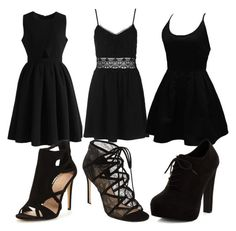 """""""little black dress """" by sugarcybemac on Polyvore featuring Chicwish, Topshop, WithChic, Pour La Victoire and New Look"""