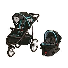 Graco - FastAction Fold Jogger Travel System with SnugRide Click Connect 35 Infant Car Seat - Tidal Wave