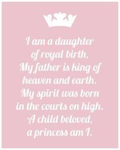 I am a daughter of the King! #godsgirl #daugtheroftheking #princess