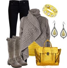 """""""Yellow Bag #1"""" by stylesbyjoey ❤ liked on Polyvore"""