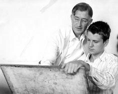 Josef Albers instructing Robert de Niro Sr., 1939. NCSA, Black Mountain College Papers Via http://www.artesmagazine.com/