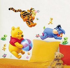 Wall Stickers Decals Paper Picture Removable PVC Home Living Dinning Room Bedroom Kitchen Decoration Art Murals DIY Sticks Girls Boys Kids Nursery Baby Room Playroom Holiday Christmas Xmas Decorating Gift (Winnie the Pooh and Blue Donkey) ZNU http://www.amazon.com/dp/B00P1W2ZHI/ref=cm_sw_r_pi_dp_EdG9vb1TGPKA1