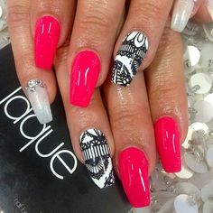 Nails by: Laque' Nail Bar Gorgeous Nails, Love Nails, How To Do Nails, Pretty Nails, Acrylic Nail Designs, Acrylic Nails, Laque Nail Bar, Cat Nails, Pretty Nail Designs