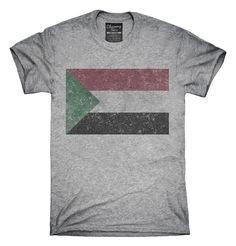Retro Vintage Sudan Flag T-Shirts, Hoodies, Tank Tops