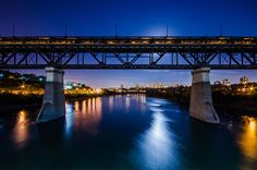 High Level Bridge at Night, Edmonton Alberta Canada