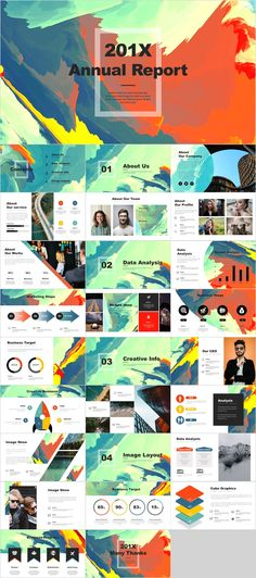 27 Best Annual Report multicolor PowerPoint template – Powerpoint Templates – Ideas of Powerpoint Te… Powerpoint Design Templates, Professional Powerpoint Templates, Powerpoint Themes, Keynote Template, Powerpoint Presentations, Booklet Design, Brochure Design, Flyer Template, Web Design
