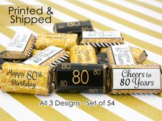 8e21a72e6d90 80th Birthday Party Decorations Gold   Black by Distinctivs 80th Birthday  Party Decorations
