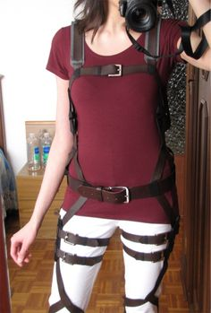attack on titan harness tutorial diy cosplay