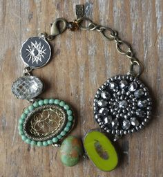 My Own Story  Created with a wonderful blend of textures and materials, beads, metals and more