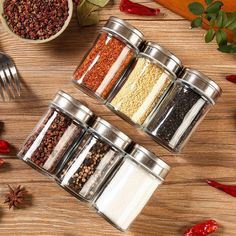 Salt Pepper Cruet Shaker Stainless Steel Condiment Jar for Camping 50 x 98mm