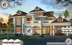 House Front Elevation Photos | 290+ Modern Home Plan Design CollectionIndian Style House Front Elevation Photos | Double Story 4 Total Bedroom, 4 Total Bathroom, and Ground Floor Area is 2064 sq ft, First Floors Area is 975 sq ft, Total Area is 3329 sq ft | Kerala Traditional Style Luxurious Home Floor Plans in an Area of 3329 Square Feet ( 309 Square Meter – 370 Square Yards ) Best Modern House Design, Modern House Plans, Cool House Designs, House Floor Plans, Home Design Images, House Design Pictures, House Front, House 2, Indian Home Design