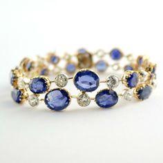 I love one as a bracelet and also as a ring.I can Diamond Sapphire Bracelet Jewelry Box, Jewelry Bracelets, Jewelry Accessories, Fine Jewelry, Jewelry Design, Bangles, Silver Bracelets, Ankle Bracelets, Bracelet Antique