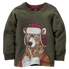Toddler Boy Winter Bear Tee   Carters.com