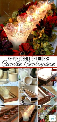 Ceiling Fan Globes, Glass Light Globes, Glass Globe, Candle Centerpieces, Christmas Centerpieces, Christmas Decorations, Graduation Centerpiece, Simple Centerpieces, Wedding Centerpieces