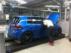My new Golf R had just arrived at the dealership and was being prepared for delivery. New Golf, For Delivery, Spaces