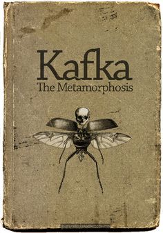 "Bookcover for Franz Kafkas novella, The Metamorphosis pub. ""The Metamorphosis"" (Die Verwandlung, also sometimes termed ""The Transformation"") tells a tale of a young man Gregor Samsa, waking to find himself transformed into a monstrous. Book Cover Art, Book Cover Design, Book Design, Book Art, Book Writer, Book Authors, Vintage Book Covers, Vintage Books, Old Books"