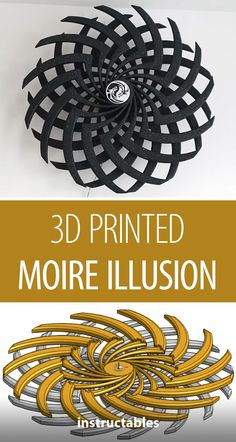 This Moire Illusion clock was created with customized printed parts. Kinetic Toys, Kinetic Art, 3d Printing Business, 3d Printing Service, Kinetic Architecture, Wood Display Stand, Paper Structure, Stencil Wall Art, Laser Cutter Projects