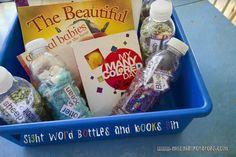 Sight Word Bottles and Books Bin...