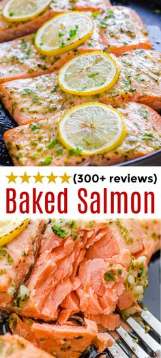 Super EASY Baked Salmon recipe. This Oven Roasted Salmon has the best marinade with garlic, lemon, and dijon. It only takes 20 minutes from start to finish and is a family favorite.  It's a keeper for sure! #salmon #bakedsalmon #roastedsalmon #ovenbakedsalmon #ovenroastedsalmon #easysalmon #garlicsalmon #dijonsalmon #seafood #fish