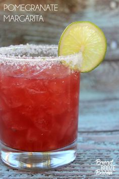 A Pomegranate Margarita is the best way to start your weekend!