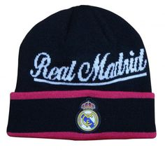 Real Madrid Style Beanie (Script) Hat World c5bd1f38678