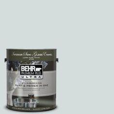 BEHR Premium Plus Ultra 1-Gal. #PPU12-13 Urban Mist Semi-Gloss Enamel Interior Paint