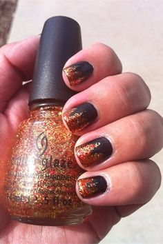 The Hunger Games Inspired Nails