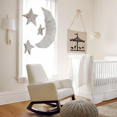 Kids Seating: Grey Variegated Pouf Seater in All Kid Seating | The Land of Nod (99.99 for Pouf -- use as ottoman)