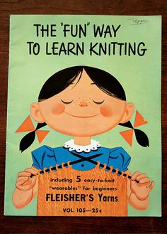OMG! This is the booklet I used to learn to knit about 40 years ago! Still have it and treasure it.