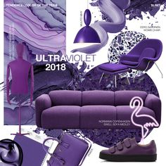 Color of the year 2018. Ultra Violet