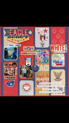 Eagle Scout scrapbook layout