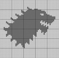http://www.ravelry.com/patterns/library/game-of-thrones-stark-sigil Stark Sigil Chart by Heather Zaccaro