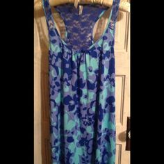 Short night gown Blue floral .......poly lace......drapes great......soft to the touch.....NWOT George Other