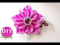 DIY.Kanzashi flower tutorial. flowers from ribbon.Brooch - YouTube