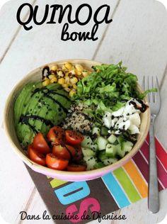 Quinoa bowl {vegan recipe without gluten} Gluten Free Vegetarian Recipes, Healthy Low Carb Recipes, Whole Foods Market, Quinoa Bowl, Veggie Bowl, Quinoa Recipe, Raw Vegan Breakfast, Cooking On A Budget, Pork Recipes