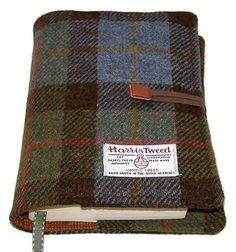 Book Cover MacLeod Harris Tweed by WhimsyWooDesigns on Etsy
