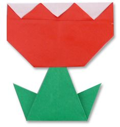 Easy origami tulip flower folding instructions how to make an tulip origami mightylinksfo