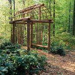 Rustic and Simple Arbor Ideas
