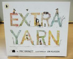 'Extra Yarn' by Mac Barnett and illustrated by Jon Klassen is our book of the week! Available at our National Centre for £6.99, you can enquire about delivery by email or call us on 01422 311 314.