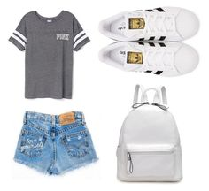 """"""""""" by yarlin-perez on Polyvore featuring Victoria's Secret and adidas Originals"""